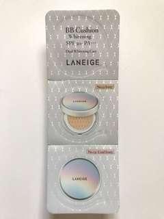 Laneige Cushion foundation samples