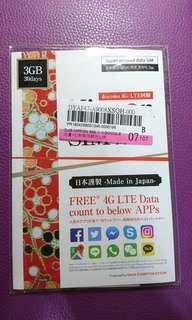 🚚 急售!!!10大APP無降速吃到飽!Dot5 Nippon Sim 日本上網卡【30日】【DOCOMO】