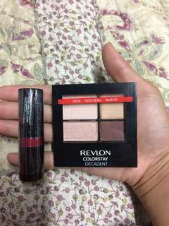 Revlon Make Up Bundle / Gift Set ( Revlon Eyeshadow & Lipstick)