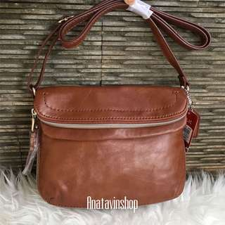 Authentic Nwt Relic by Fossil Cora EW Crossbody Cognac