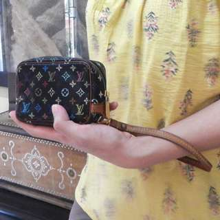 LOUIS VUITTON multicolor wapit wristlet pouch
