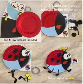 Children art - DIY animal paper plate handicrafts/ party game, goodies bag, goody bag gift