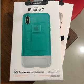 Spigen Classic C1 for iPhone X (Bondi Blue)