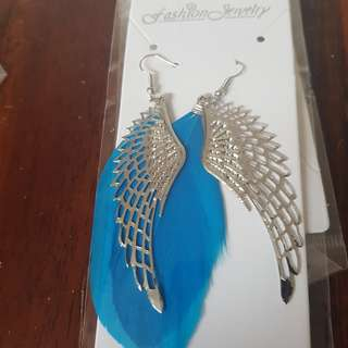 feather ear rings