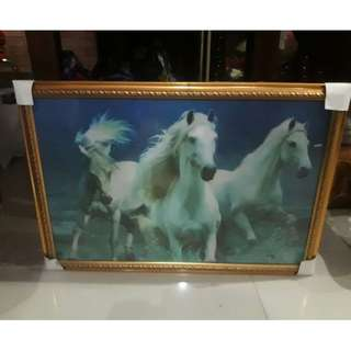 Lukisan 3D Kuda