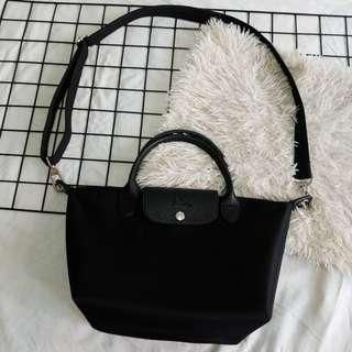 Longchamp Small Short-handle (Black)