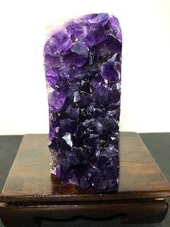 Amethyst Crystal slab 乌拉圭紫晶镇 382g