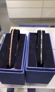 Original Swarovski's Ruby and Emerald Crystal Diamond bracelets