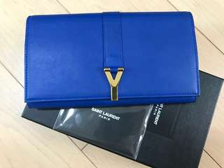 YSL wallet Blue Electric