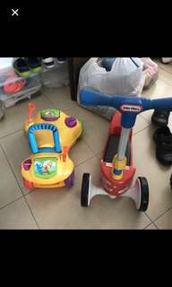 Good quality Toddler Scooter and Mint condition walker