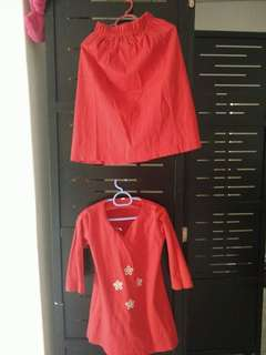 Kids Soft cotton baju kurung for sale!
