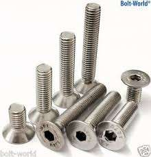 Countersink stainless steel screw M10X55