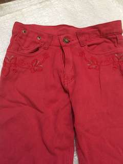 Red maong pants