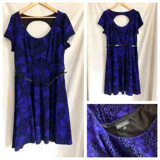 CITY CHIC Winter-Weight Skater Dress, Size L/20, Excellent Condition