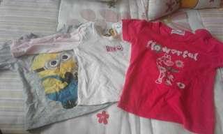 Combo jimat!Tshirt 3-6m &6-12m
