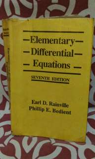 📚Elementary Differential Equation 7th Ed by Rainville