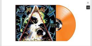Def Leppard - Hysteria 30th Anniversary Orange Colored Vinyl 500 Pressed