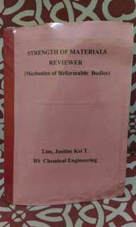 📚Printed Copy Strength of Materials Reviewer