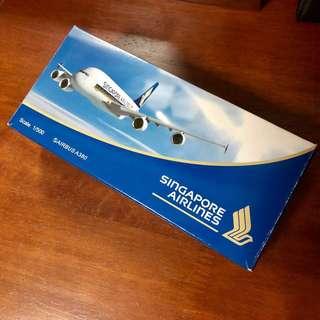 SIA SQ A380 aircraft model 1:500