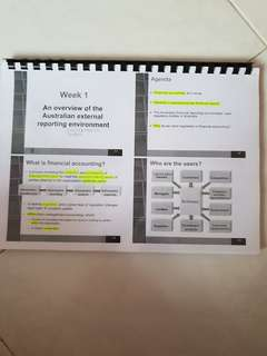 RMIT Financial Accounting and Reporting Notes