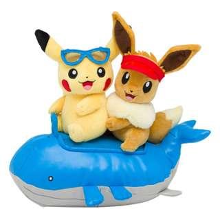 [PO] Pokemon Center Exclusive Plush Toy Season Pikachu & Eevee Summer