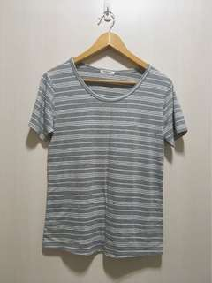 🚚 黑白細條棉質T-shirt