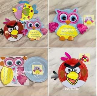 Paper plate DIY art and craft- handicrafts goodies bag gift, party games