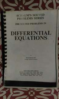 📚Printed Copy Schaum's Solved Problems Differential Equation