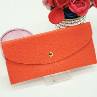 Long wallet 10 card compartment fashionable