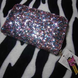 Pink glittery wallet
