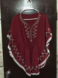 Maroon Cover up/Poncho