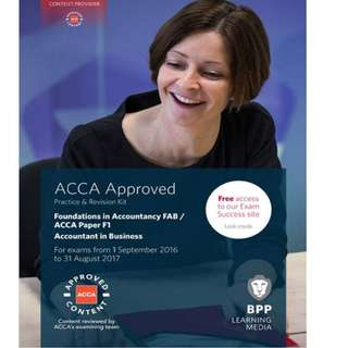 BPP ACCA Foundations in Accountancy / Accountant in Business Paper F1 Revision Kit