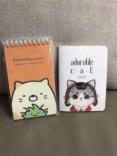 兩本全新角落生物貓咪可愛筆記簿日本正版