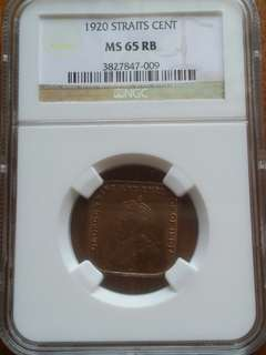 Brilliant Straits Coin NGC Graded MS65
