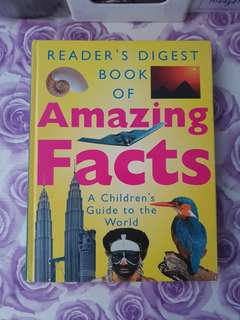 Reader's Digest book of Amazing facts book