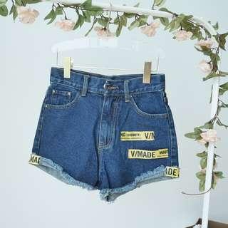 Graphic Denim Shorts
