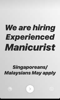 Hiring Experienced Manicurists