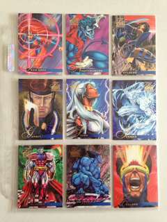 Full Set 1995 Flair Marvel Annual (150 cards) with free 9-pocket pages