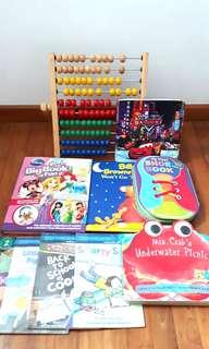 PL CHILDREN BOOKS AND COUNTER BUNDLE SET