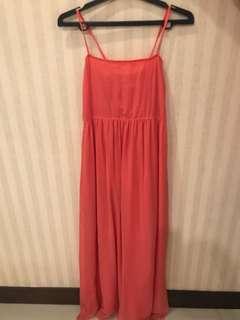 Long dress pink/ dress pesta