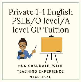English tutor (with experience)