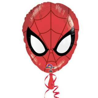 17 Inch Spiderman Face Anagram Balloon with Helium and Weight