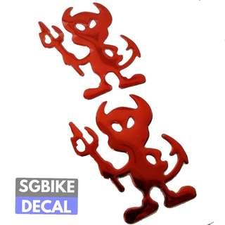 Red Devil Epoxy Decal 2pc