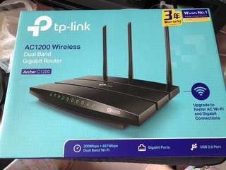 全新 TP Link AC1200 Wireless Router Archer C1200