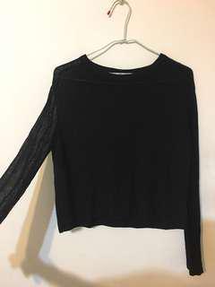 日本購入ZARA 金蔥透膚薄針織衣