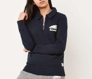 Women's Roots Sweater **BLACK**