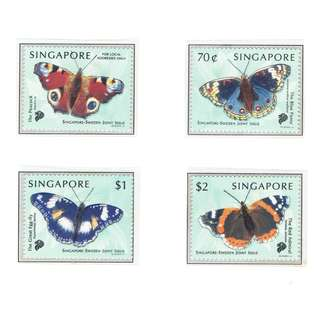 1999  06 Mint Stamps  Singapore Sweden Joint Issue ---- BUTTERFLIES