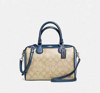 AUTHENTIC COACH MINI BANNET IN SIGNATURE SATCHEL