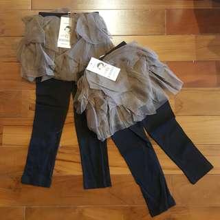 Legging tutu coklat - hitam