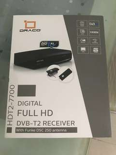 New Draco Dvb-T2 Receiver Digital Tv Set Top Box